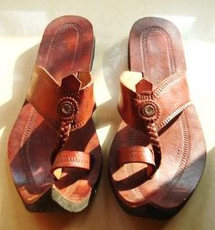 Moroccan Inspired Maharaja Leather Sandals by IncredibleIndia