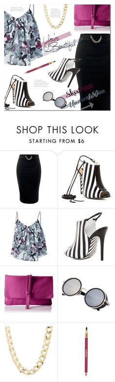 """""""Skirts Under $50 (2)"""" by polly301 ❤ liked on Polyvore featuring Alejandra G, Sam&Lavi, Cynthia Vincent, LIST, Charlotte Russe, Sisley, under50 and skirtunder50"""
