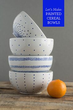 diy painted cereal bowls