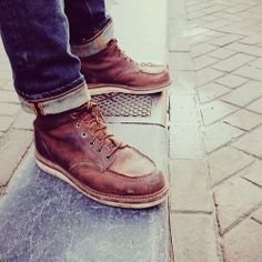 redwings Red Wing 875, Red Wing Moc Toe, Mens Lace Up Boots, Jeans And Boots, Leather Boots, Hipster Fashion, Mens Fashion, Red Wing Boots, Wedge Boots