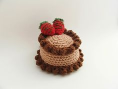 Easter Gifts / Crochet Cake / Amigurumi Cake / Crochet Food / Chocolate Cake / Amigurumi Food / Birthday Cake / Knitted Food / Pet Toys
