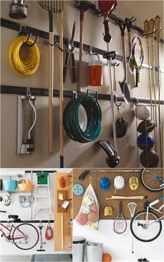 I love this type of storage for garages! I use it in my own house!