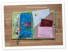 Reiseunterlagenmappe, Tasche für Reisepass und Co - Travel Lady nähen