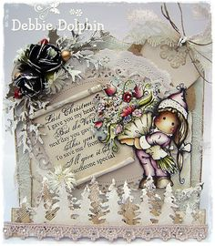 Gorgeous card by Debbie featuring stamp from Magnolia's Christmas Story Collection