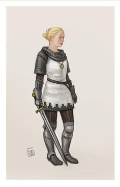 f Paladin Chainmail Armor Sword Symbol lwlvl urban farmland ArtStation - Dungeons and dragons characters, Frida Bergholtz Dungeons And Dragons Paladin, Dungeons And Dragons Characters, Dnd Characters, Fantasy Characters, Female Characters, Female Armor, Female Knight, Fantasy Armor, Medieval Fantasy