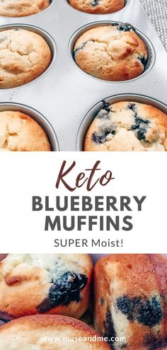 SUPER Moist (Keto) Blueberry Muffins - Keto recipes, ketogenic diet, fitness, and health. - If you're struggling to come up with quick and easy ketogenic breakfast ideas you'll be happy to hear that these killer keto muffins stay moist for days! Ketogenic Breakfast, Low Carb Breakfast, Breakfast Recipes, Breakfast Ideas, Breakfast Cereal, Breakfast Casserole, Breakfast Bars, Breakfast Gravy, Dessert Recipes