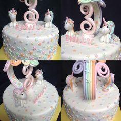 Meine Enkeltochter würde drei und sie wünschte sich von mir eine Einhorn - Torte. Cake, Desserts, Food, Unicorn, Work Shop Garage, Tailgate Desserts, Deserts, Kuchen, Essen