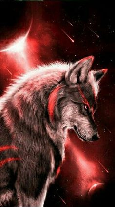 Dark Orange Wolf