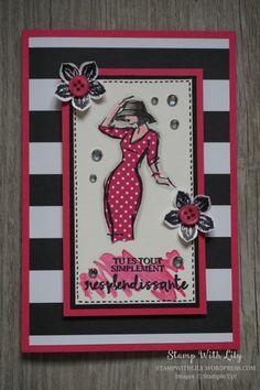 Carte féminine avec le set de tampons Resplendissante de Stampin'Up!
