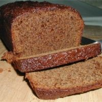 Gingerbread Bread. Super easy to make and turned out great! Smells and tastes like gingerbread men. A nice thing to serve to company with coffee or tea or for a quick breakfast or snack in the fall/winter.
