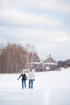 Ice Skating and Snowball Fight Engagement Session - Belle The Magazine Winter Engagement Pictures, Engagement Session, Engagements, Snowball Fight, Ice Skating, Skate, Scenery, Photography, Outdoor