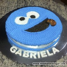 Birthday Cake, Sugar, Link, Desserts, Food, Food Cakes, Decorating Cakes, Monsters, Birthday Cakes
