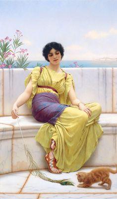 Godward Idleness 1900 - John William Godward - Wikipedia, the free encyclopedia