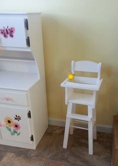 Hardwood Amish Made Handcrafted Wooden by AlaratessAlexbres, $85.00 Doll High Chair, Toy Rooms, Baby Furniture, Reborn Babies, Amish, Wooden Toys, American Girl, Hardwood, Stool