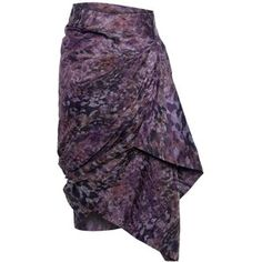 Vivienne Westwood Red Label Red Label Purple/Taupe Camouflage Skirt