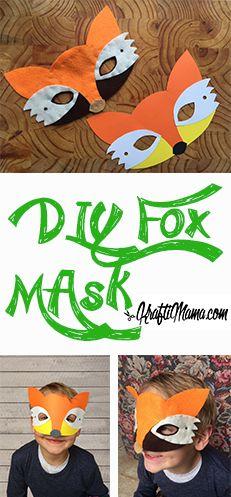 Woodland Creature Fox Mask DIY Diy For Kids, Crafts For Kids, Felt Mask, Magazines For Kids, Fox Art, Woodland Creatures, Animal Crafts, Diy Mask, Craft Activities