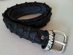 Belt from old mtb bicycle tire by PePeBikeBelts on Etsy