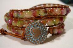 Leather wrap bracelet Wrap bracelet Boho by WrapBraceletsbyLynn