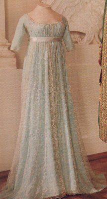 Regency gown - pale blue