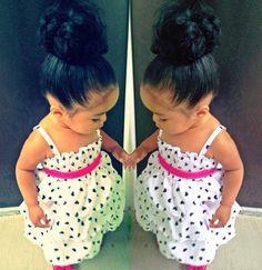 I hope if I have a girl she will have a lot of hair so I can do buns !