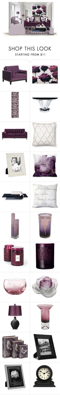 """Purple"" by thekreativekorner ❤ liked on Polyvore featuring interior, interiors, interior design, home, home decor, interior decorating, Armen Living, Graham & Brown, Kathy Ireland and Dot & Bo"