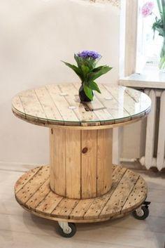 Szpulkowy stolik