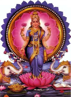 Lakshmi ..goddess of fortune, strength, purity,happiness