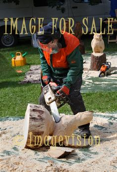 for sale chain saw artist at work