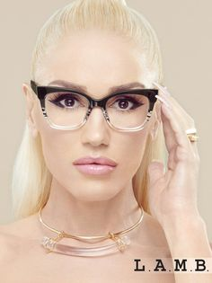 L.A.M.B. Eyeglasses For Round Face, Glasses For Round Faces, Girls With Glasses, Eyeglasses For Women, Ladies Glasses, Gwen Stefani Style, Womens Glasses Frames, Cool Glasses, Fashion Eye Glasses