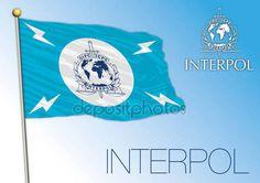 Bandiera di Interpol, organizzazione internazionale — Vettoriali Stock © frizio #130653436