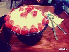 Patbingsu <3 Patbingsu, Korean Dessert, Ox, Acai Bowl, Menu, Breakfast, Desserts, Acai Berry Bowl, Menu Board Design