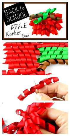 How to Make a Back to School Apple Korker Hair Bow – Hairbow Supplies, Etc.