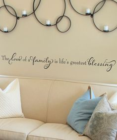 Black 'Life's Greatest Blessing' Wall Quote on zulily today!
