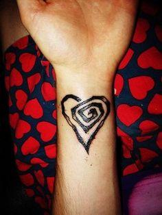 Heart wrist tattoo...