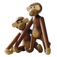 Kay Bojesen (Denmark) monkey toy.  Originally designed in 1951, still being made today and now used as a mascot on Danish wildlife programmes.  Buy online: http://twentytwentyone.com/products/gifts-and-accessories/childrens