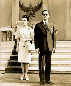 His Majesty King Bhumibol and Her Majesty Queen Sirikit Of Thailand