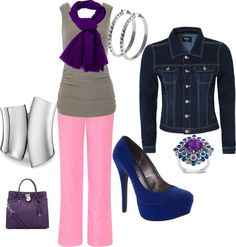 """""""pretty in pink tones"""" by r-dee-johnson on Polyvore"""