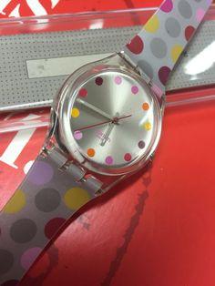 VINTAGE Swatch GE125 Melting Spot 2004 New In Box Silver #Swatch #CartoonIdol