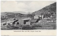 Postcard Independence Mine and Mill, Cripple Creek Dist., Colorado~95907