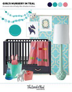 Teal Girl's Nursery