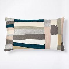 Crewel Brushstrokes Pillow Cover - Rosette #westelm