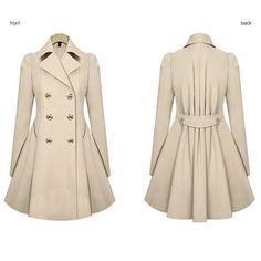 New Women Lady Pleated Parka Outwear Jacket Long Fashion Slim Fit Vogue Elegant Sweet Casual Chic Sexy Overcoat Blazer Coat W011