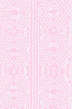 Mudcloth In White And Pink By Jenlats
