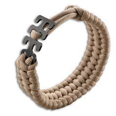 CKRT Adjustable Paracord Bracelet - Tan