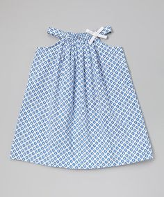 Love this Blue Geometric Sundress - Infant, Toddler & Girls on #zulily! #zulilyfinds