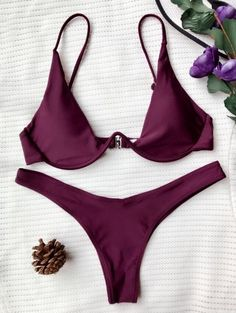 SHARE & Get it FREE | Push Up Plunge Bathing Suit - Merlot MFor Fashion Lovers only:80,000+ Items • New Arrivals Daily Join Zaful: Get YOUR $50 NOW!