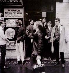 Flamingo Jazz Club, Soho1964, photograph by Jeremy Fletcher. The Flamingo Club was a nightclub that operated in Soho, London, between 1952 and 1967. It was located at 33-37 Wardour Street from 1957 onwards, and played an important role in the development of British rhythm and blues and jazz.