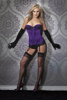 Hollywood Celebrities: Coquette Purple Satin Bustier