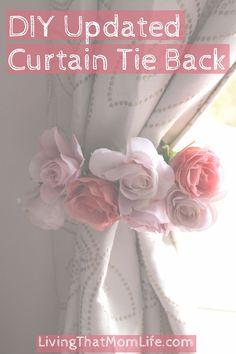 Curtain Tie Back // Baby Girl Nursery // Floral Decor // Roses // DIY…