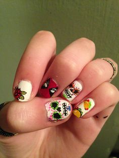 Deadpool meets taco, taco meets sugar skull nails XD